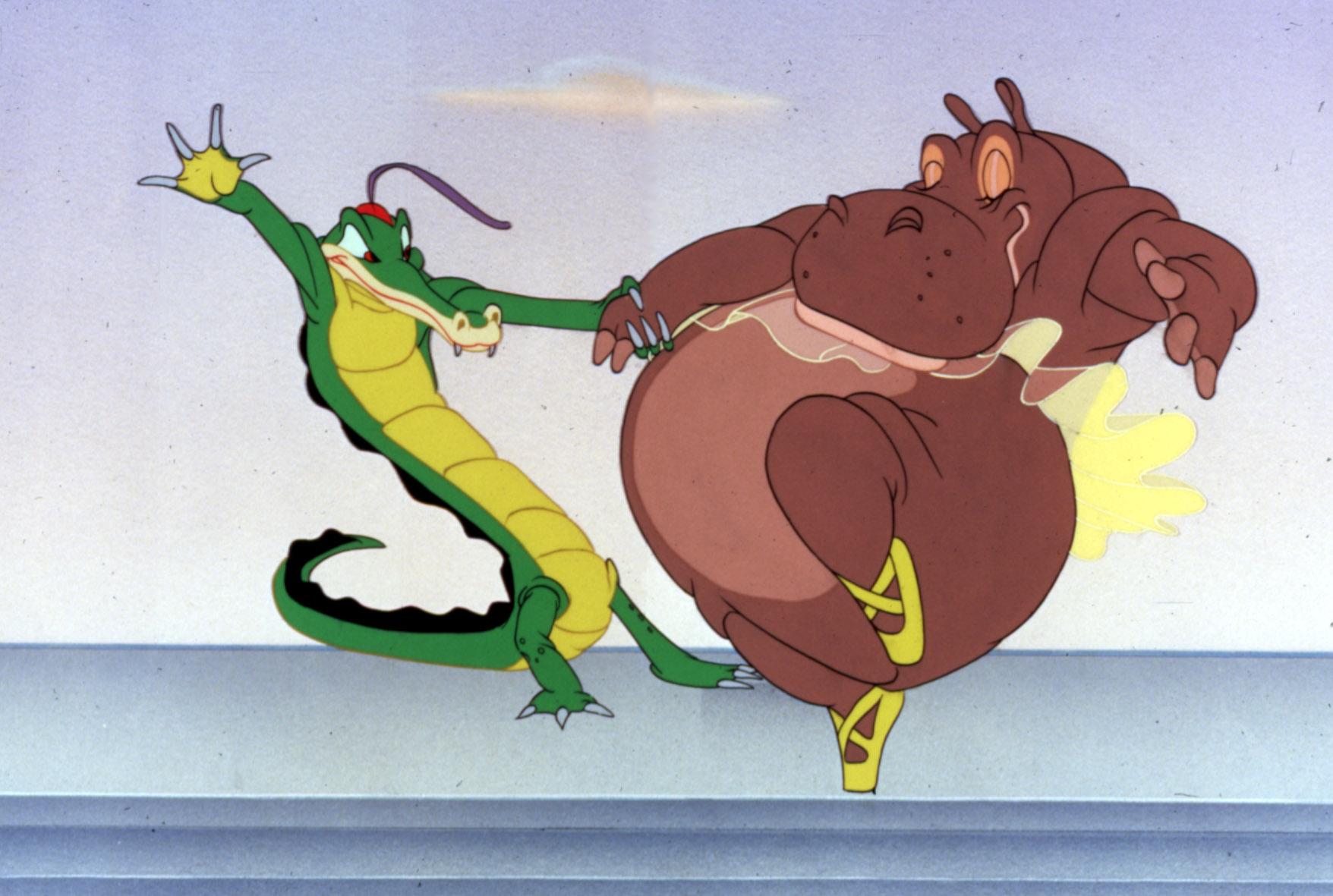 FANTASIA, Hippo, Alligator, 1940. (c) Walt Disney Productions/Everett Collection