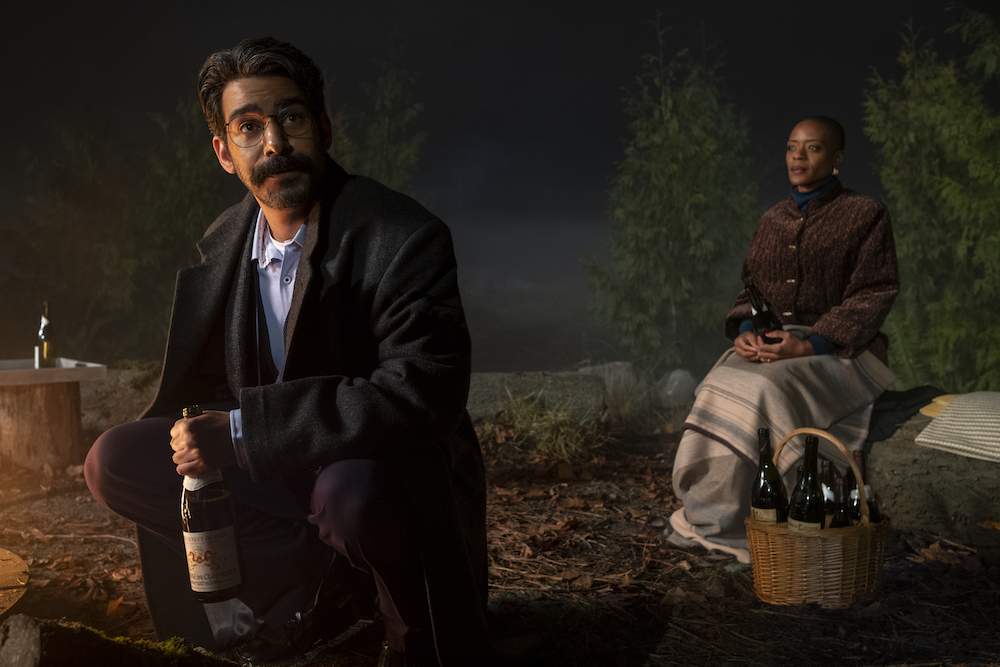 THE HAUNTING OF BLY MANOR (L to R) RAHUL KOHLI as OWEN and T'NIA MILLER as HANNAH in THE HAUNTING OF BLY MANOR Cr. EIKE SCHROTER/NETFLIX © 2020