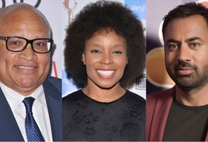Larry Wilmore, Amber Ruffin, and Kal Penn