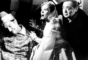 THE RAVEN, from left, Vincent Price, Olive Sturgess, Peter Lorre, 1963