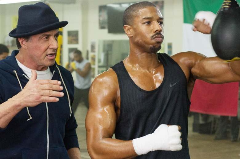 CREED, from left: Sylvester Stallone, Michael B. Jordan, 2015. ph: Barry Wetcher/©Warner Bros./Courtesy Everett Collection
