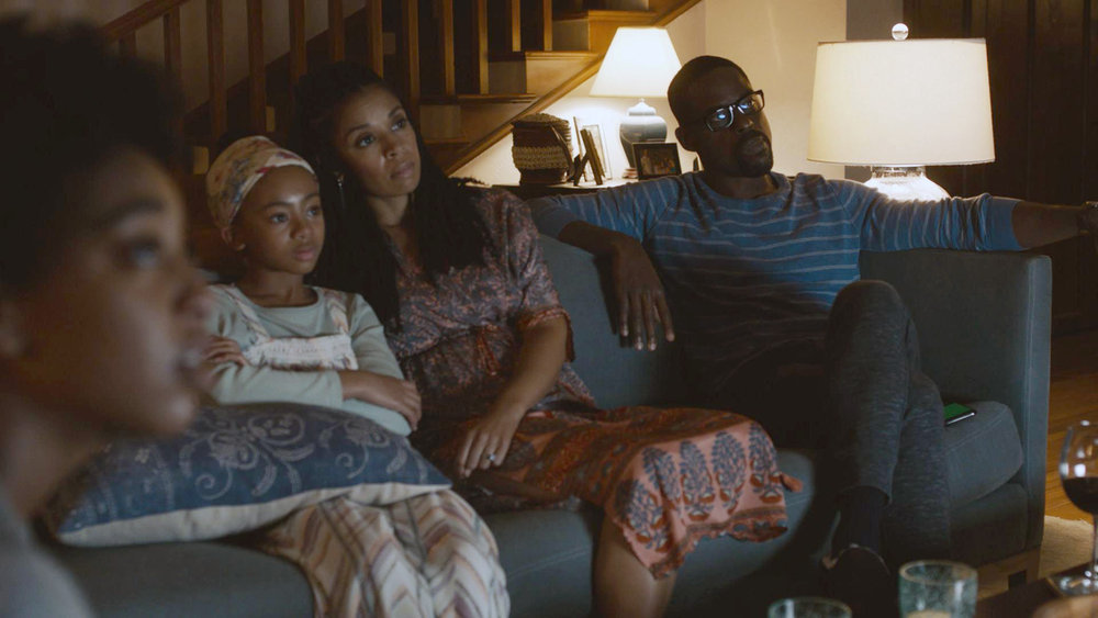"THIS IS US -- ""Forty Part 1/Forty Part 2"" Episode 501/502 -- Pictured in this screengrab: (l-r) Eris Baker as Tess, Faithe Herman as Annie, Susan Kelechi Watson as Beth, Sterling K. Brown as Randall -- (Photo by: NBC)"