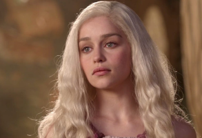 "Emilia Clarke as Daenerys in the first season of ""Game of Thrones"""