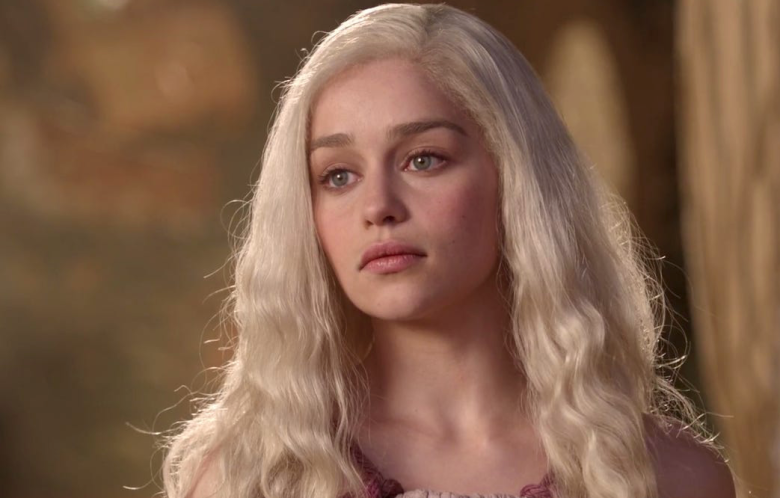 """Emilia Clarke as Daenerys in the first season of """"Game of Thrones"""""""