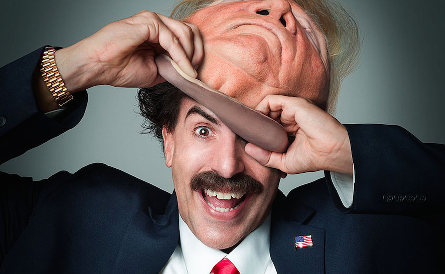Sacha Baron Cohen Wore 56-Inch Trump Fat Suit for 'Borat 2,' Plus Seth Rogen Shares First Rave -
