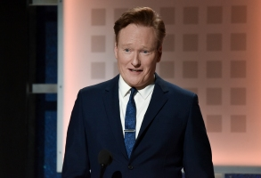 Conan O'Brien onstage at the 19th Annual Movies For Grownups Awards at the Beverly Wilshire Hotel on Saturday, Jan. 11, 2020, in Beverly Hills, Calif. (Photo by Richard Shotwell/Invision/AP)