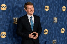 "FILE - In this Wednesday, Jan. 8, 2020, file photo, Ken Jennings, a cast member in the ABC television series ""Jeopardy! The Greatest of All Time,"" poses at the 2020 ABC Television Critics Association Winter Press Tour, in Pasadena, Calif. Jennings won his third match in the ""Jeopardy!"" ""Greatest of all Time,"" contest televised on Tuesday, Jan. 14, 2020, an event that's been a prime-time hit for ABC. (AP Photo/Chris Pizzello, File)"