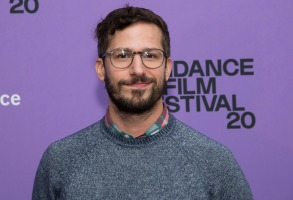 """Andy Samberg attends the premiere of """"Palm Springs"""" at the Library Center Theatre during the 2020 Sundance Film Festival on Sunday, Jan. 26, 2020, in Park City, Utah. (Photo by Charles Sykes/Invision/AP)"""