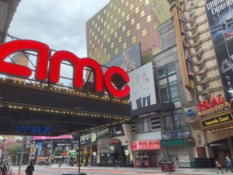 Photo by: STRF/STAR MAX/IPx 2020 10/25/20 Movie Theaters in continue to suffer economic hardship during the Coronavirus Pandemic in New York City.