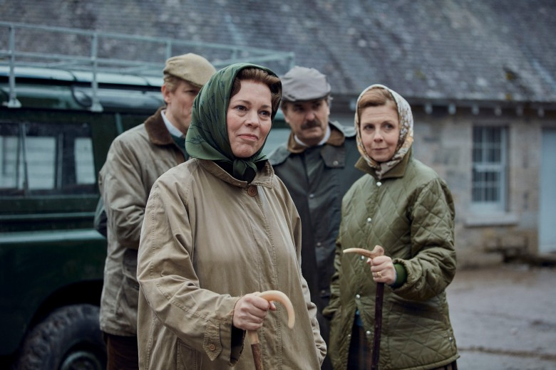 Picture shows: Queen Elizabeth II (OLIVIA COLMAN) and Prince Philip (TOBIAS MENZIES). Filming Location: Ardverikie Estate, Kinloch Laggan Newtonmore Inverness-shire