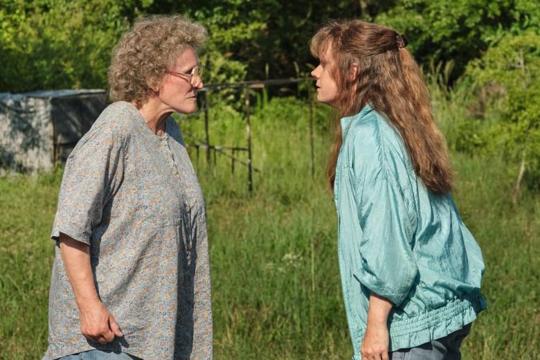 """HILLBILLY ELEGY: (L to R) Glenn Close (""""Mamaw""""), Amy Adams (""""Bev""""). Photo Cr. Lacey Terrell/NETFLIX © 2020"""