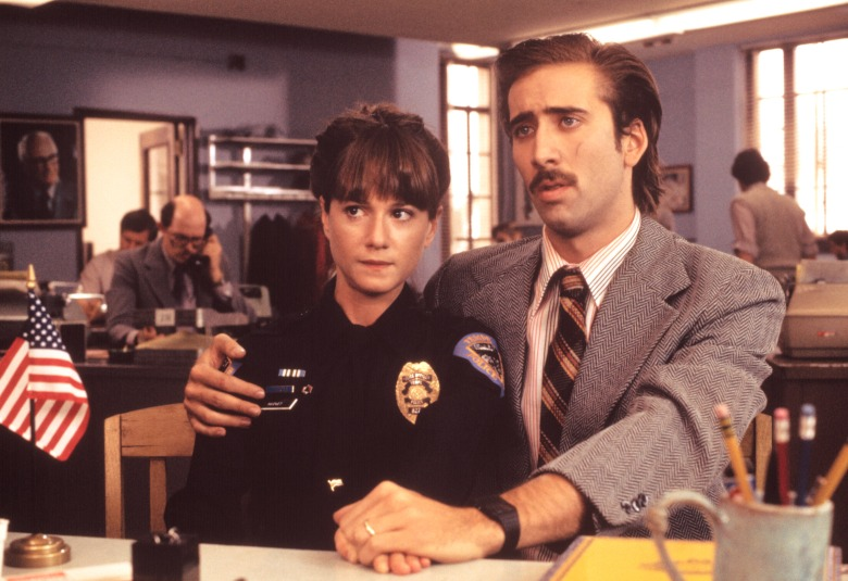 RAISING ARIZONA, from left: Holly Hunter, Nicolas Cage, 1987