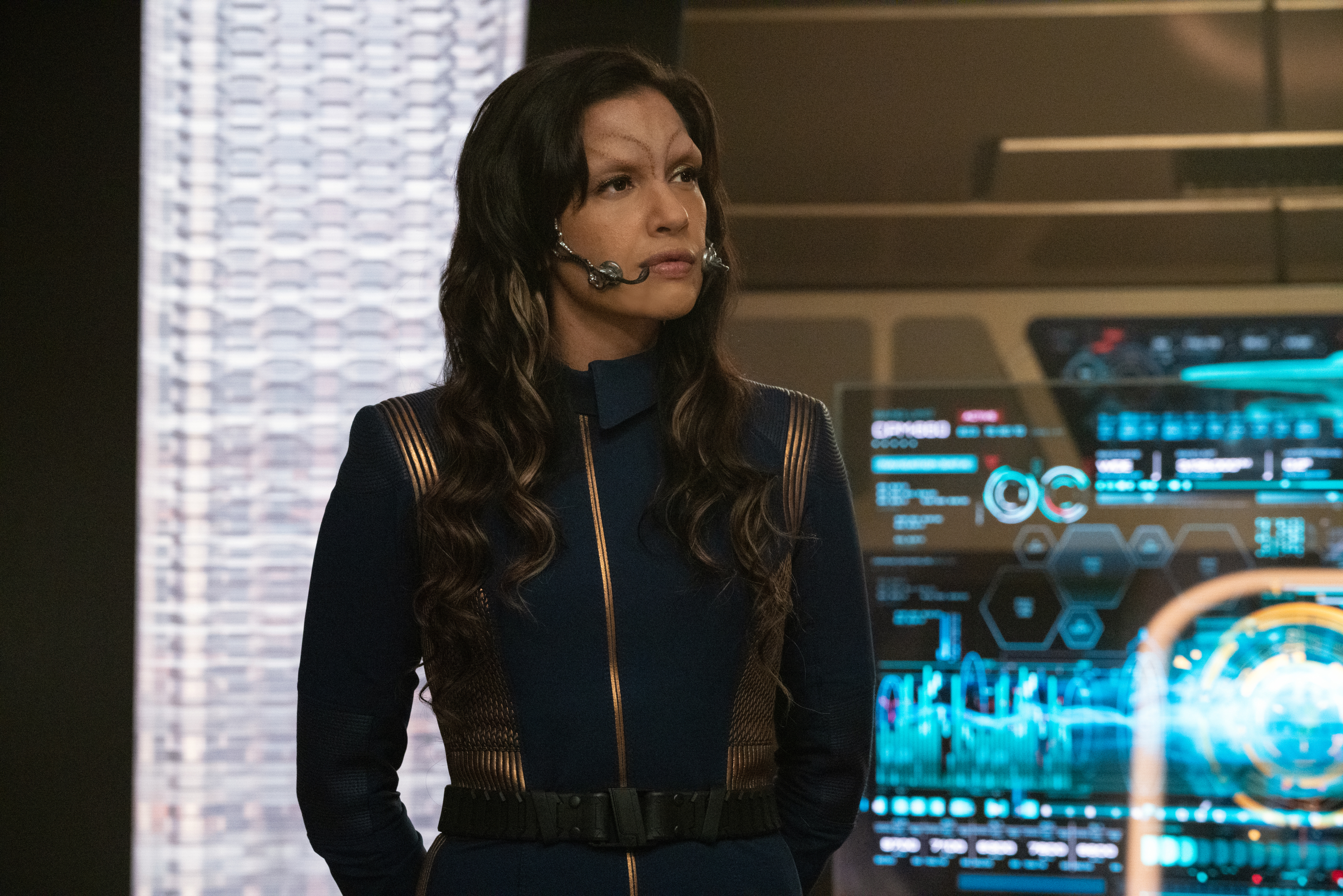 """Die Trying"" — Ep#305 — Pictured: Rachael Ancheril as Commander Nhan of the CBS All Access series STAR TREK: DISCOVERY. Photo Cr: Michael Gibson/CBS ©2020 CBS Interactive, Inc. All Rights Reserved."