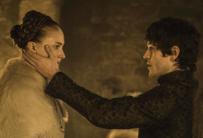 "Sophie Turner and Iwan Rheon in ""Game of Thrones"""