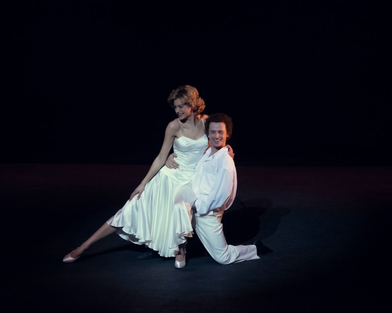 Picture shows: Princess Diana (EMMA CORRIN) and Wayne Sleep (JAY WEBB)