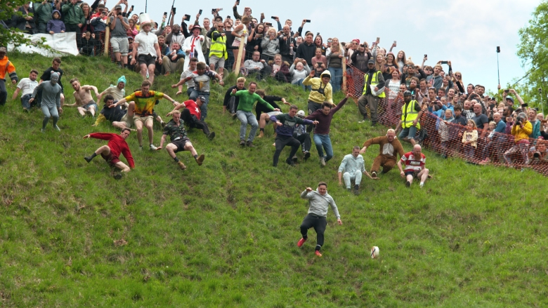We Are The Champions: Season 1. Episode 1, Cheese Rolling. c. Courtesy of Netflix © 2020