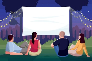 Turn Your Backyard Into an Outdoor Movie Theater with These Must-Have Items
