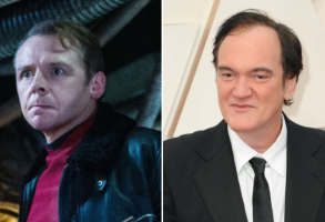 Simon Pegg and Quentin Tarantino