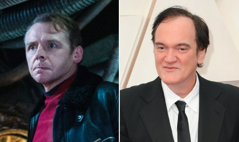 Simon Pegg and Quentin Tarantino