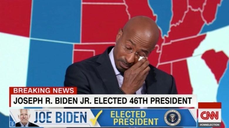 WATCH: CNN's Van Jones Breaks Down on Live TV Talking About Joe Biden's Win