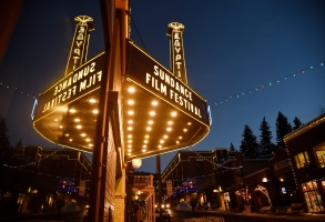 FILE - In this Jan. 18, 2017 file photo, the marquee at the Egyptian Theatre appears on the eve of the 2017 Sundance Film Festival in Park City, Utah. The 2018 Sundance Film Festival will run from Jan. 18 through Jan. 28. (Photo by Chris Pizzello/Invision/AP, File)