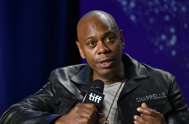 """Dave Chappelle attends the press conference for """"A Star Is Born"""" on day 4 of the Toronto International Film Festival at the TIFF Bell Lightbox on Sunday, Sept. 9, 2018, in Toronto. (Photo by Evan Agostini/Invision/AP)"""