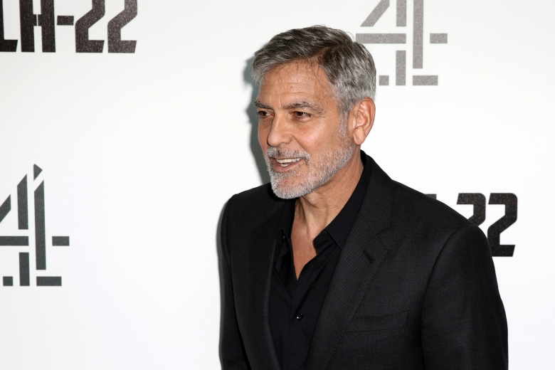 Actor George Clooney poses for photographers on arrival at the premiere of the television mini-series 'Catch22', in London, Wednesday, May 15, 2019. (Photo by Grant Pollard/Invision/AP)