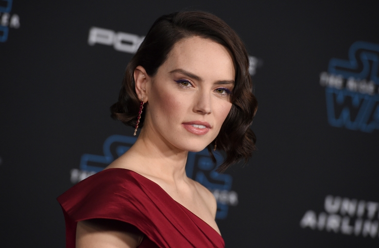 """Daisy Ridley arrives at the world premiere of """"Star Wars: The Rise of Skywalker"""" on Monday, Dec. 16, 2019, in Los Angeles (Jordan Strauss/Invision/AP)"""