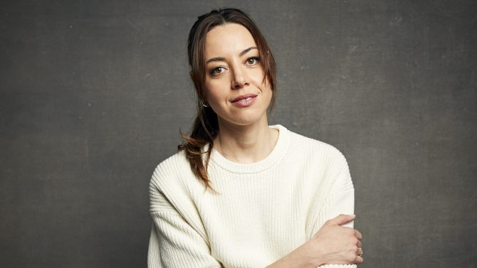 """Aubrey Plaza poses for a portrait to promote the film """"Black Bear"""" at the Music Lodge during the Sundance Film Festival on Saturday, Jan. 25, 2020, in Park City, Utah. (Photo by Taylor Jewell/Invision/AP)"""