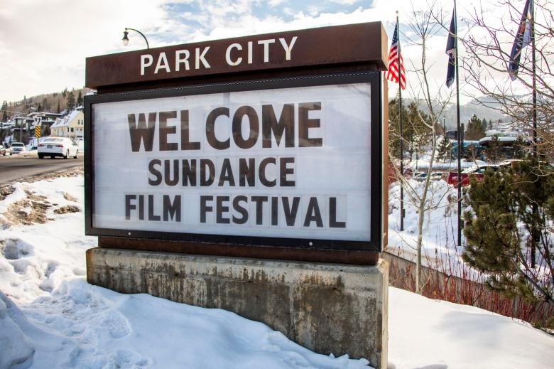 A sign outside of the Main Street area welcomes visitors to the 2020 Sundance Film Festival on Sunday, Jan. 26, 2020, in Park City, Utah. (Photo by Arthur Mola/Invision/AP)