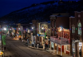 A view overlooking Main Street is seen on the sixth day of the 2020 Sundance Film Festival on Tuesday, Jan. 28, 2020, in Park City, Utah. (Photo by Arthur Mola/Invision/AP)