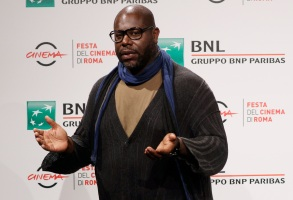 "Director Steve McQueen poses during a photo call for the movie ""Small Axe"", at the Rome Film Fest, in Rome, Friday, Oct. 16, 2020. (AP Photo/Gregorio Borgia)"