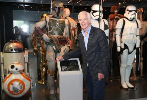 Star Wars Identities: The Exhibition. Jeremy Bulloch who played bounty hunter Boba Fett in The Empire Strikes Back and Return of the Jedi stands alongside his original costume during a photocall for the Star Wars Identities: The Exhibition at the O2 in London. Picture date: Wednesday July 26, 2017. Photo credit should read: Jonathan Brady/PA Wire URN:32191960