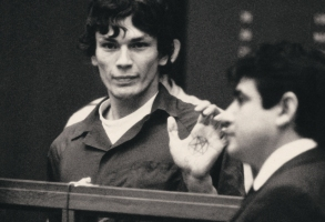 "Richard Ramirez (The Night Stalker) in episode 4 ""Manhunt"" of Night Stalker: The Hunt for a Serial Killer. Cr. NETFLIX © 2021"