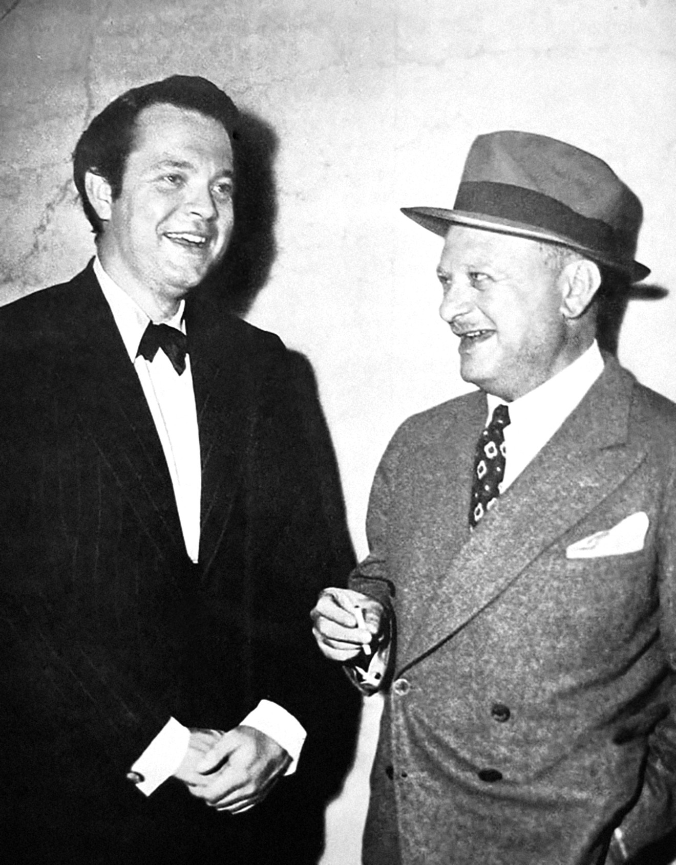 Herman Mankiewicz (right) with Orson Welles, ca. 1940s