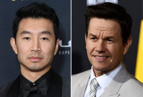 Simu Liu and Mark Wahlberg