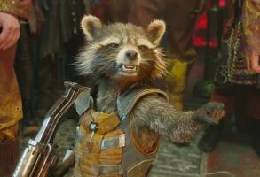 "Rocket Raccoon in ""Guardians of the Galaxy"""