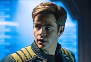 "Chris Pine as Captain Kirk in ""Star Trek Beyond"""