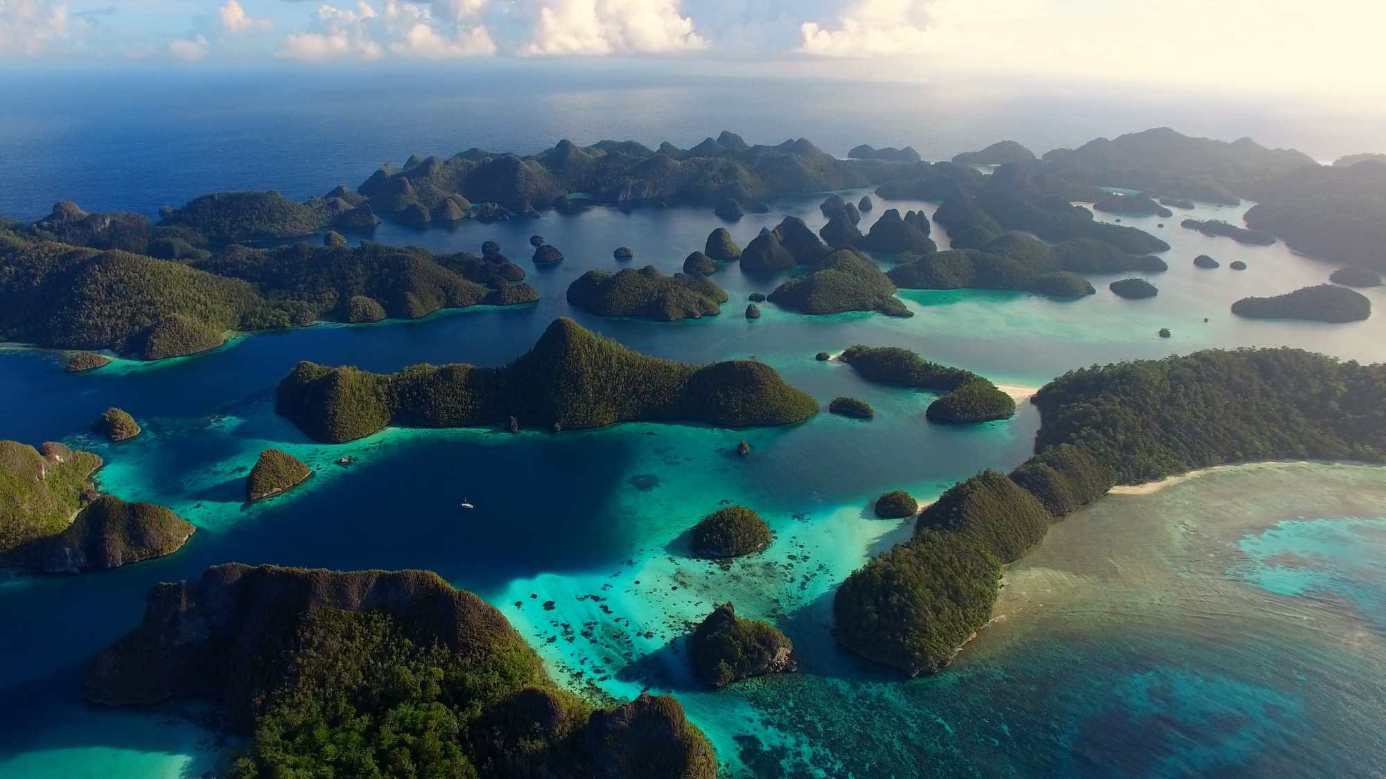 Aerial of Raja Ampat, Indonesia - A Wild Year on Earth _ Season 1, Episode 1 - Photo Credit: