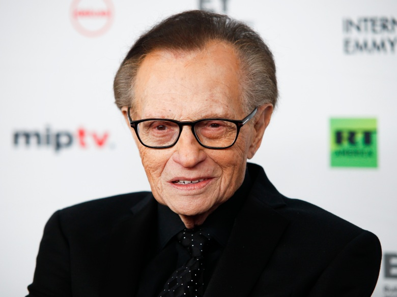 Larry King attends the 45th International Emmy Awards at the New York Hilton on Monday, Nov. 20, 2017, in New York. (Photo by Andy Kropa/Invision/AP)