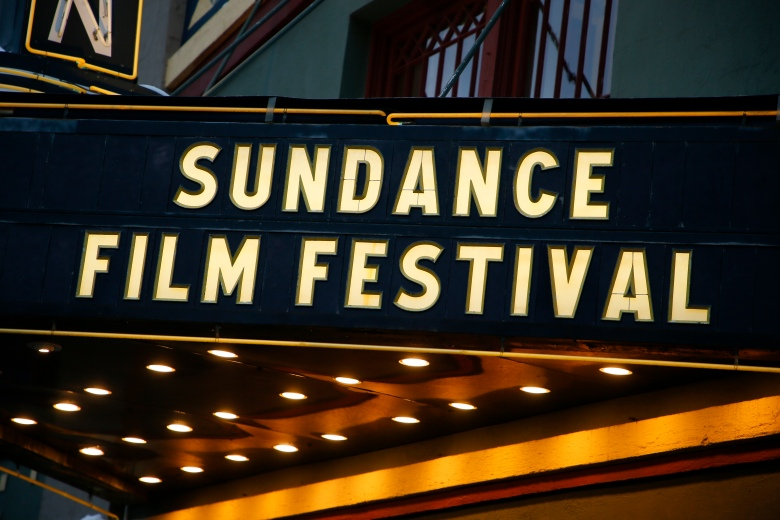 The marquee of The Egyptian Theatre on Main Street is seen during the 2018 Sundance Film Festival on Monday, Jan. 22, 2018, in Park City, Utah. (Photo by Danny Moloshok/Invision/AP)