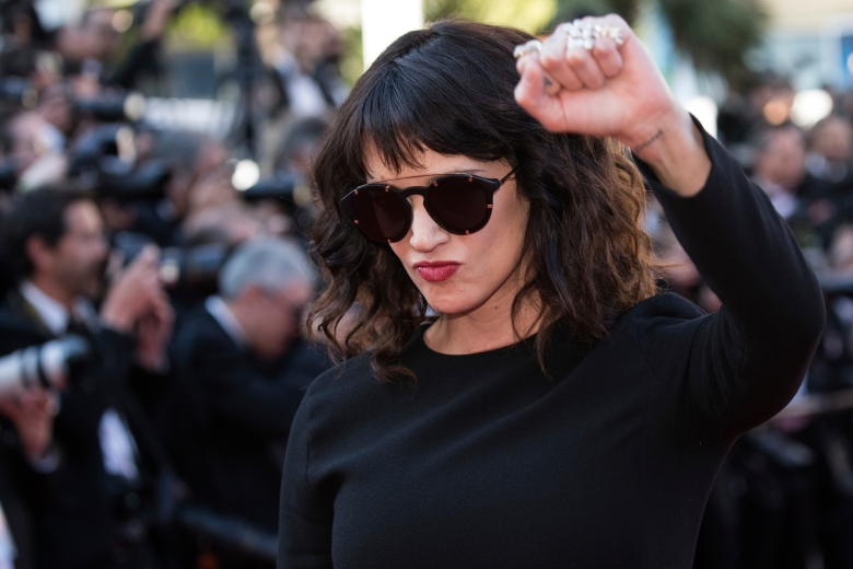 Asia Argento poses for photographers upon arrival at the premiere of the film 'The Man Who Killed Don Quixote' and the closing ceremony of the 71st international film festival, Cannes, southern France, Saturday, May 19, 2018.(Photo by Vianney Le Caer/Invision/AP)