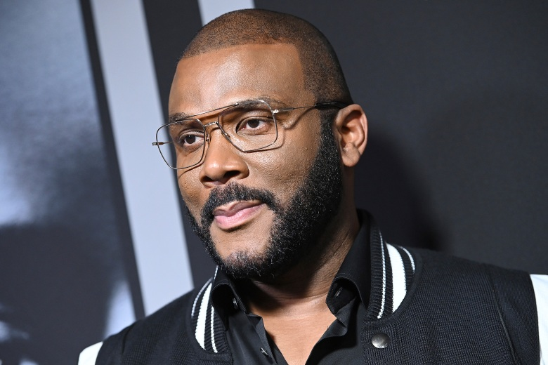 """Tyler Perry attends Tyler Perry's """"A Fall From Grace"""" New York Premiere Screening at Metrograph in New York, NY, January 13, 2020. (Photo by Anthony Behar/Sipa USA)(Sipa via AP Images)"""