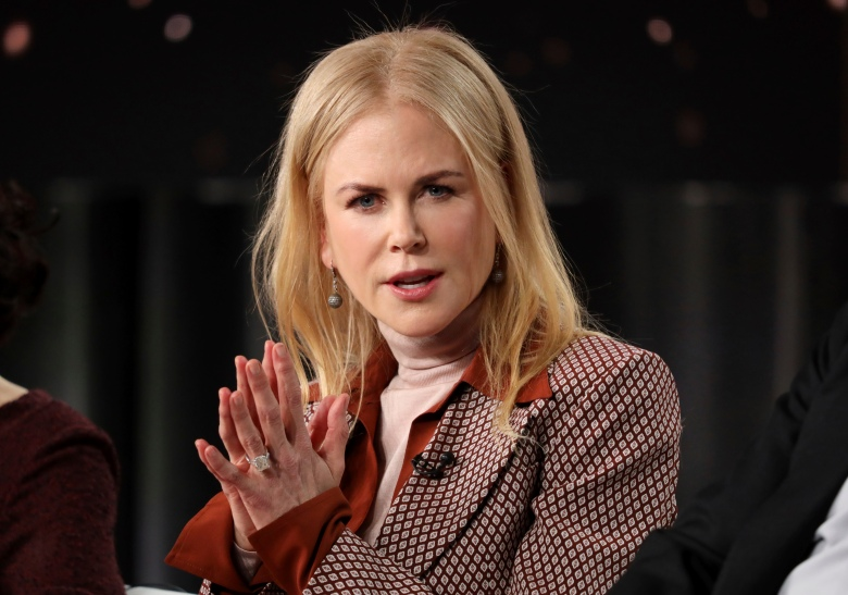 """Nicole Kidman speaks at the """"The Undoing"""" panel during the HBO TCA 2020 Winter Press Tour at the Langham Huntington on Wednesday, Jan. 15, 2020, in Pasadena, Calif. (Photo by Willy Sanjuan/Invision/AP)"""