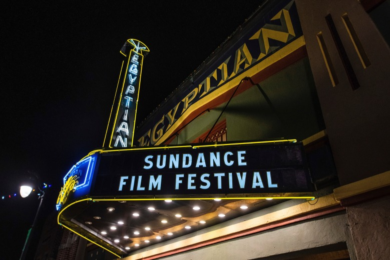 The Egyptian Theatre marquee promotes the 2020 Sundance Film Festival, on Sunday, Jan. 26, 2020, in Park City, Utah. (Photo by Charles Sykes/Invision/AP)