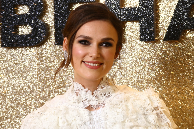 Actress Keira Knightley poses for photographers upon arrival at the World Premiere of 'Misbehaviour' at a central London hotel, Monday, Mar. 9, 2020. (Photo by Joel C Ryan/Invision/AP)