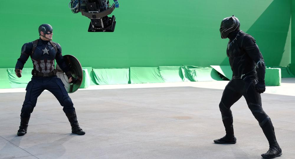 """Captain America: Civil War"" Green Screen"