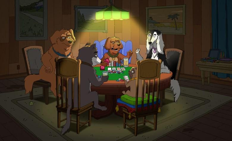 """Dogs Playing Poker"""
