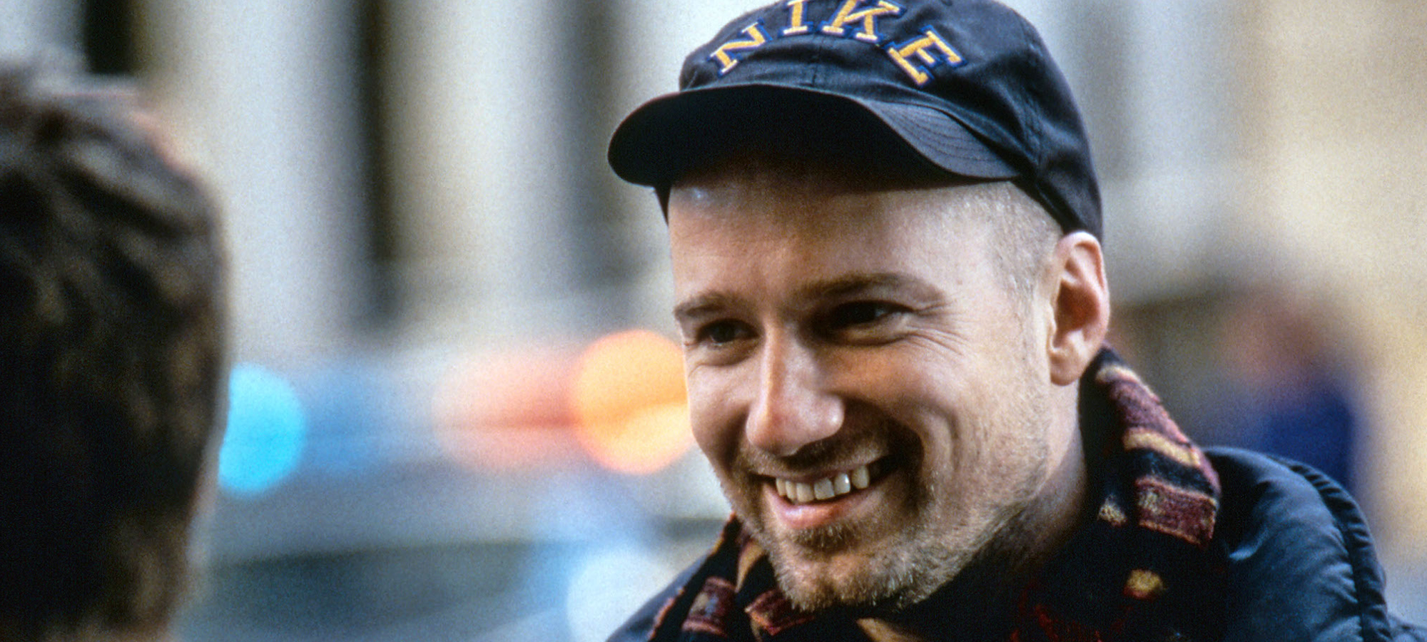 David Fincher on the set of