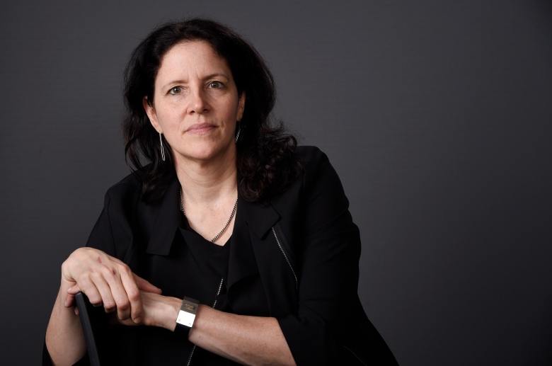 """Documentary filmmaker Laura Poitras, director of """"Risk,"""" poses for a portrait on Monday, May 8, 2017, in Los Angeles. (Photo by Chris Pizzello/Invision/AP)"""